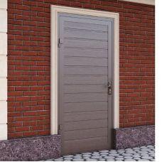 Гаражная боковая дверь Alutech SD-Thermo (1000x2050), S-гофр, RAL 8014, левая