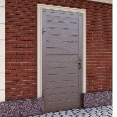Гаражная боковая дверь Alutech SDN-2 (900x2050), S-гофр, RAL 8014, правая