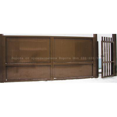 Алюминиевые распашные ворота ADS-400 Алютех, цена-качество. - Фото 1