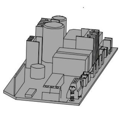 Контроллер (блок/плата) управления к приводу секционных гаражных ворот V6000 CAME 119RIE166 - Фото 1