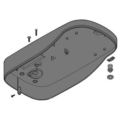 Основание корпуса (нижняя крышка) привода секционных гаражных ворот серии VER V900E CAME 119RIE144 - Фото 1