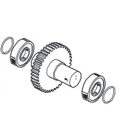 Основной выходной вал (металлическая шестерня) редуктора шлагбаума CAME серии Gard G3250 / G3750 CAME 119RIG331 - Фото 1