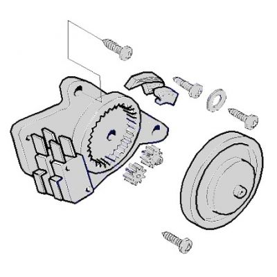 Привод концевых выключателей CAT-Х в сборе CAME 119RIX014 - Фото 1