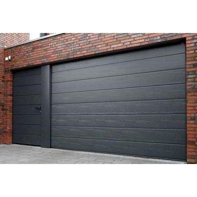 Ворота Doorhan Чехия - черные ворота в гараж - Фото 1