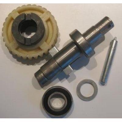 Рабочий вал двигателя с шестерней и подшипниками в сборе DoorHan DHSL011 - Фото 1