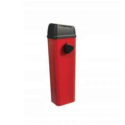 Стойка электромеханического шлагбаума B614 RED RAL 3020 со встроенным энкодером и блоком управления E614 - Фото 1