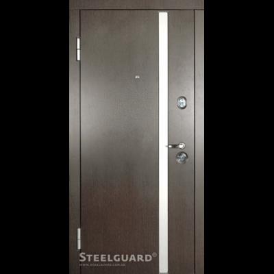 Двери Steelguard AV-1 Венге тем./бел. - Фото 1