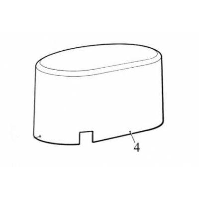 Крышка верхняя ROBO (цвет графит) (PPD1870A.4540) - Фото 1