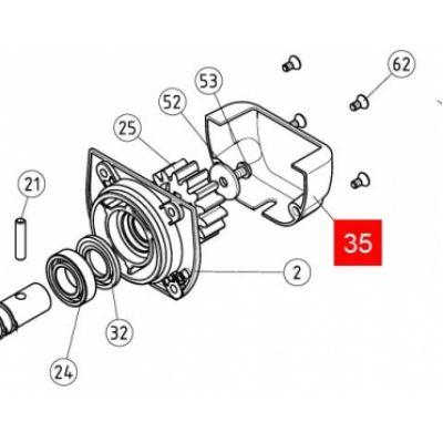Кожух защитный шестерни ROBUS350 RD400 (PPD0604R01.4540) - Фото 1