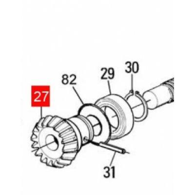 Шестерня коническая червячного вала MOBY (PMDICGMC.46102) - Фото 1