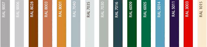 Стандартные цвета панелей Херман
