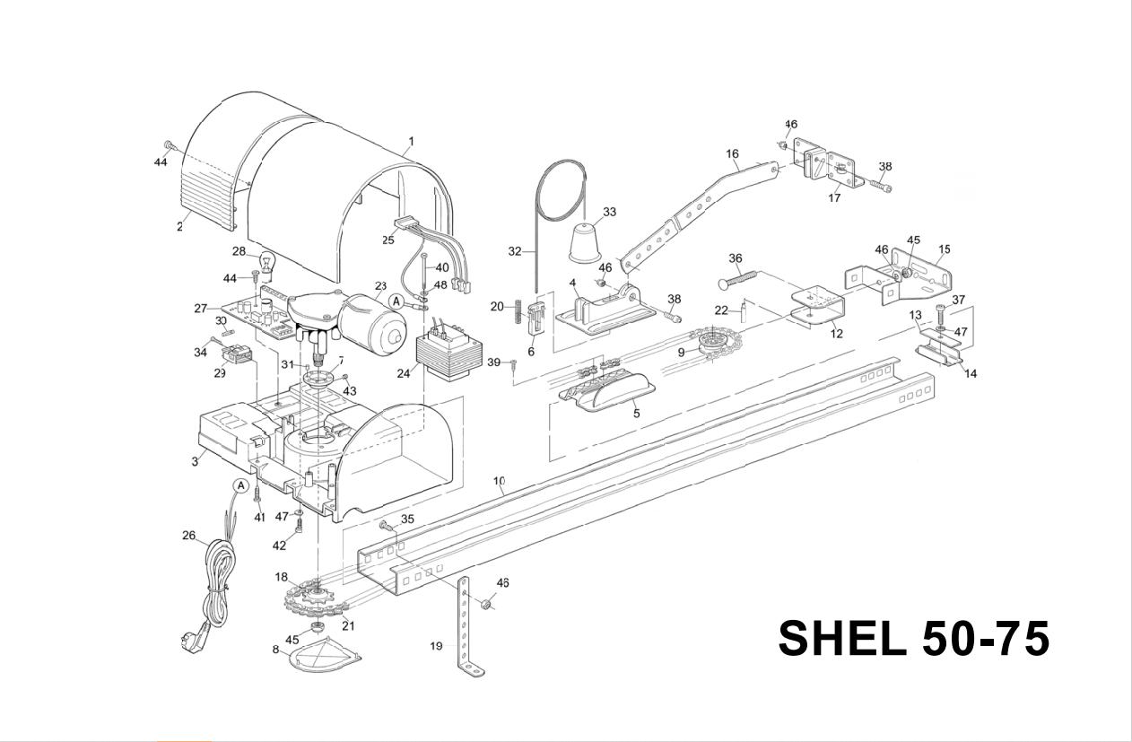 Запчасти для автоматики Nice Shel75
